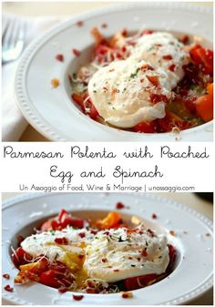Polenta dinner party polenta dinners and big parmesan polenta with poached egg and spinach un assaggio of food wine marriage forumfinder Gallery