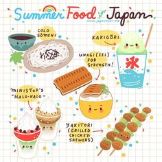Maximize your summertime experience in Japan by enjoying these popular summer food items! 🍧❤️ As recommended by and ✨ Art by: Little Miss Paintbrush 🎨 Japanese Culture, Japanese Food, Go To Japan, Japan Trip, Japan Japan, Japon Tokyo, Japanese Language Learning, Posca Art, Turning Japanese