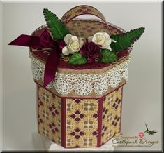 Octagon Box with Guest Designer Joann Jamieson -Project ideas using your Scor-Pal 3d Paper Crafts, Fun Crafts, Paper Crafting, Diy Paper, Kirigami, Scrapbooking, Envelope Punch Board, Heartfelt Creations, Craft Box