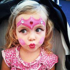 face painting for kids Princess Pink Girl Face paint Glitter Princess Face Painting, Girl Face Painting, Doll Face Paint, Painting For Kids, Body Painting, Face Paintings, The Face, Face And Body, Tinta Facial