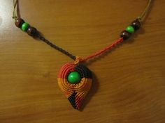 Macrame necklace by ~Ursulaa on deviantART