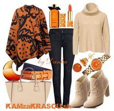 Vo farbách jesene - KAMzaKRASOU-sk #poncho #orange #autumn #autumnlook #autumnoutfit #stylish