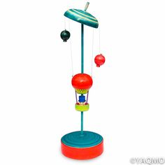 Spinning Tops / Hot Air Balloon. By master craftsman, Masaaki Hiroi.
