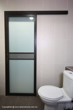 High Quality Aluminium Bathroom Door Frosted Glass