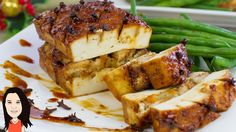 A FAIRE Maple Glazed Baked Tofu with No Cook Apricot Stuffing - Vegan Recipe Gre...