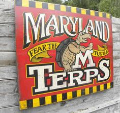 Maryland Terps Sign