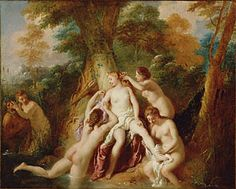 Diana and Her Nymphs Bathing, Jean-François de Troy, 1722–24