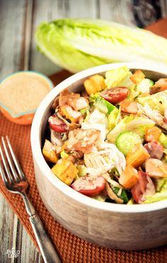 Chicken Salad With BBQ Dressing #Paleo