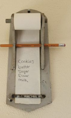 wooden wall hung grocery list by Gepettosroom on Etsy - I need to make something similar for our kitchen