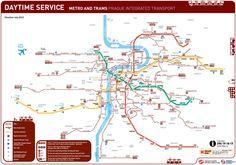 Official Map: Prague Integrated Transport, 2012
