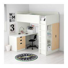 STUVA Ca al3cj/2p - blanco/abedul - IKEA