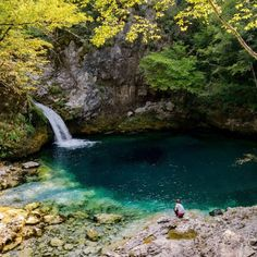 The Blue Eye of Thethi, one of the most beautiful places to visit in Albania. This spring in Theth Albania is worth including in your Albania itinerary! #Albania #travel #hiking #Balkans
