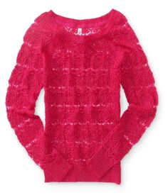 Crochet Crew Sweater  (any color)