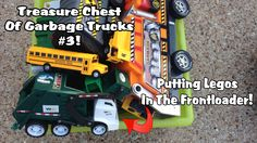 Garbage Truck Video - Putting Legos In The Frontloader! (By Request)
