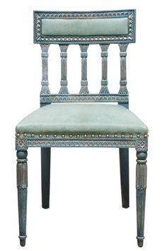 Swedish Upholstered Back Side Chair - Dering Hall