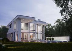 LK&1288 Projekt domu w stylu nowoczesnym.   #lkprojekt #project #houseproject #house #modern #architecture #polisharchitecture #homesweethome #domjednorodzinny #singlefamilyhouse #exterior #build #dreamhome #dreamhouse #dom #nowoczesny #nowoczesne