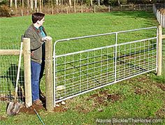 small gap in fencing to let you through, but not the 4 legged. would save soo much gate hassle.