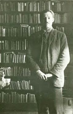 Hemingway Inside Shakespeare & Company, 1920s, no further info