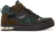 Kenzo - Black & Green Yard High-Top Sneakers