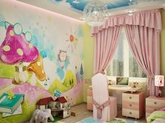 interior room for a little girl