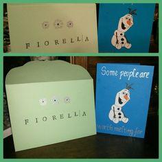 Wish card Olaf, Frozen.