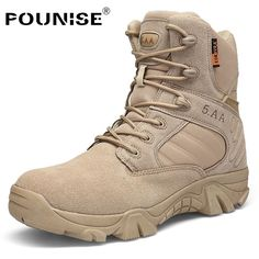 d277ef20241 Men Combat Boot Army Military Tactical Boots Desert Duty Work Shoes with  Side Zipper. Botas Para HombreZapatos ...