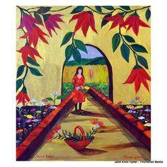 Jane Knox Hyder, Floral Garden on ArtStack #jane-knox-hyder #art