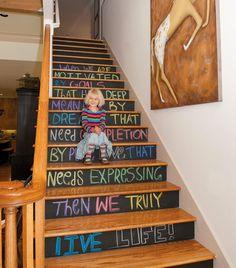 A Handful Of Stair Art Ideas Photo