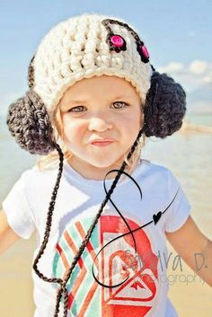 Earphones crocheted hat.