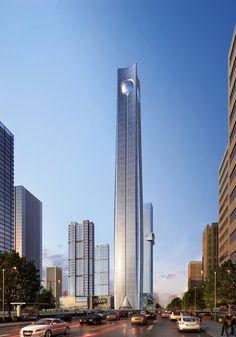 AD-Future-Talles-Skylines-05  Pearl of the North, Shenyang, China, Height: 1,863 Feet, Floors: 113  Completion: 2018  The Pearl of the North will cost an estimated $1.6 billion and will be a mixed-used building in Shenyang, China. It will have 34 floors of offices as well as a 320-room five star luxury hotel, according to Architects Journal.