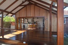 Recycled Australian hardwood timber wall cladding, decking, structural posts, beams etc.