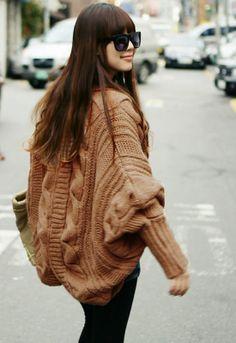 Coffee Open-neck Batwing Sleeves Women Sweater Bat Wings 8c5a91e40ddf