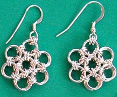 These Japanese Flower Earrings look like the popular Japanese Cherry Blossom. Follow these chain maille instructions and watch as a few jump rings turn into these beautiful flowers.