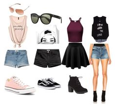 """""""cute summer days outfit insperation"""" by ilovemyrattiemocha on Polyvore featuring Melissa McCarthy Seven7, Yves Saint Laurent, Hollister Co., Converse, Red Herring, Oliver Peoples, Oakley and plus size clothing"""
