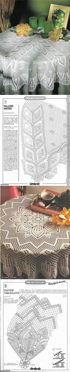 New crochet patterns tablecloth mom Ideas Crochet Tablecloth Pattern, Crochet Curtains, Crochet Quilt, Crochet Doily Patterns, Granny Square Crochet Pattern, Crochet Cross, Crochet Diagram, Crochet Round, Crochet Chart