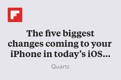 The five biggest changes coming to your iPhone in today's iOS 9 update http://flip.it/VDCl5