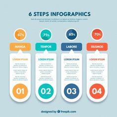 Concept de pas de l'infographie Infographic Template Powerpoint, Circle Infographic, Powerpoint Design Templates, Creative Infographic, Presentation Design Template, Business Powerpoint Presentation, Web Design, Instructional Design, Le Web