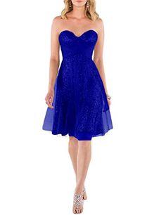 JoJoBridal Women's Short Sequins Cocktail Bridesmaid Dresses Prom Gowns Royal Blue Size 17