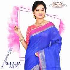 Make an impression this festive Season with the just in fancy Ghicha Silk sarees by AMMK. Silk Sarees Online Shopping, Mahatma Gandhi, Festive, Sari, Fancy, How To Make, Collection, Fashion, Saree