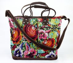 """Peony Long Day Bag. Works perfectly as a diaper bag, beach bag, or a bag for one of your """"long days"""". Ethically made in Guatemala by artisans."""