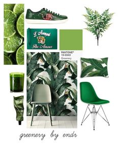 Designer Clothes, Shoes & Bags for Women Pantone, Collages, Greenery, Plant Leaves, Chair, Polyvore, Furniture, Design, Home Decor