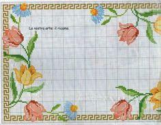 Geri Dönüşüm Projeleri Cross Stitch Fruit, Cross Stitch Heart, Simple Cross Stitch, Cross Stitch Borders, Cross Stitch Flowers, Cross Stitch Designs, Cross Stitch Patterns, Manta Crochet, Needlepoint