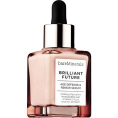 bareMinerals BRILLIANT FUTURE Age Defense Renew Serum Face (445 SEK) ❤ liked on Polyvore featuring beauty products, skincare, face care, bare escentuals and bare escentuals skin care