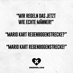 Ah nee, das ist zu brutal . Good Jokes, Funny Jokes, Hilarious, Mario Kart, Funny As Hell, Funny Cute, Daily Quotes, True Quotes, Funny Scenes