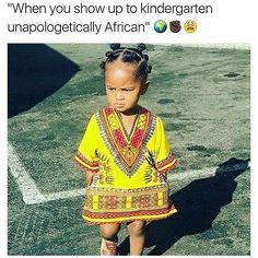 And a child shall lead them! ✊ #Africa #Legacy #Unapologetic #BabyBawse #Meme #Jokes #BlackHistoryMonth #MyBlackIsBeautiful #MBIB #Dashiki #Naturalistas