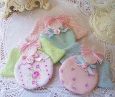 SALE3 Shabby Angel Ornaments So SweetSo