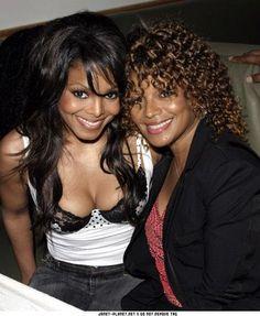 Janet Jackson and her sister Rebbie Jackson Janet Jackson Daughter, Jo Jackson, Jackson Family, Michael Jackson, Black Celebrities, Celebs, Divas, Vintage Black Glamour, Lab