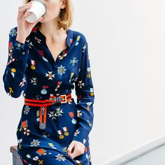 And the award for 'Most caffeine consumed in one day' goes to... (Shop the dress here).