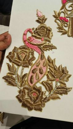 Beaded Embroidery Patterns Stitching In The Pursuit Of Happiness Ny City Tambour Embroidery Class. Zardosi Embroidery, Tambour Embroidery, Indian Embroidery, Gold Embroidery, Bead Embroidery Tutorial, Bead Embroidery Patterns, Embroidery Designs, Maggam Work Designs, Fabric