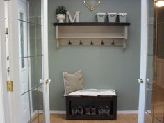 could do this either by the laundry room door or in our foyer